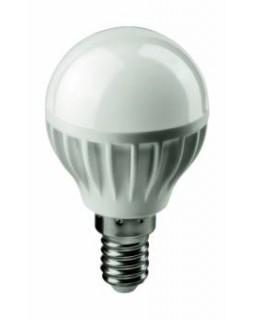 Лампа светодиодная 6 Вт 230В Е14 шарик, тёплый белый 71 643