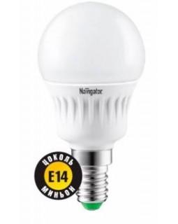Лампа светодиодная 7 Вт 230В Е14 шарик, тёплый белый 94 466