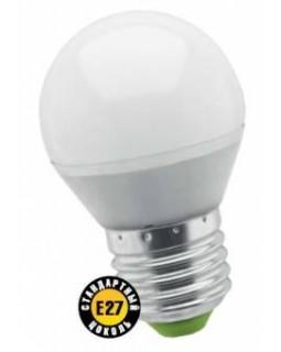 Лампа светодиодная 5 Вт 230В Е27 шарик, тёплый белый 94 477