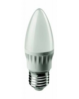 Лампа светодиодная 6 Вт 230В Е27 свеча, теплый ОНЛАЙТ