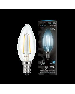 Лампа светодиодная 5 Вт 230В Е14 Filament свеча, холодный 4100К