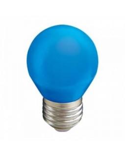 Лампа светодиодная 2,6W G45 220V E27 Blue шар Синий матовая колба