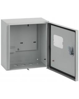 Щит вводно-учетный навесной под 1-ф.сч-к+2мод. с замком и окном ЩУ-1/1-0 IP54 (310*300*150)
