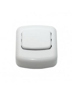 Кнопка для звонка белая 1А 250В IP20 А1 1-894