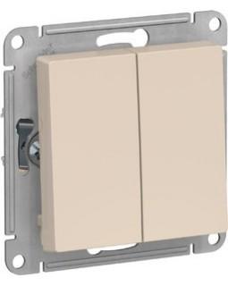 Выключатель 2 клавишный бежевый AtlasDesign