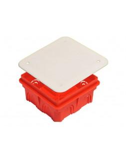 Коробка монтажная разветвительная 102х102х50 мм с крышкой для сплошных стен , IP 20