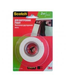 Лента монтажная Scotсh для внутренних работ 19 мм х 1,5 м, 2 кг на 30 см ленты